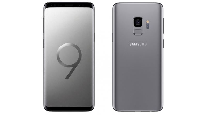 Samsung Galaxy S9 smartphone in Titanium Gray color