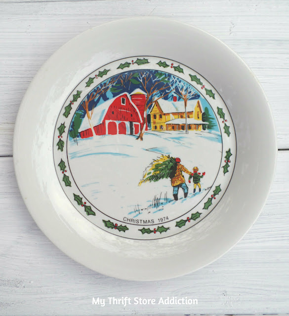 First edition collectible Christmas plate