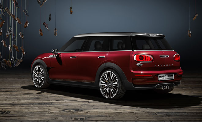 Mini Clubman Concept: rear side view