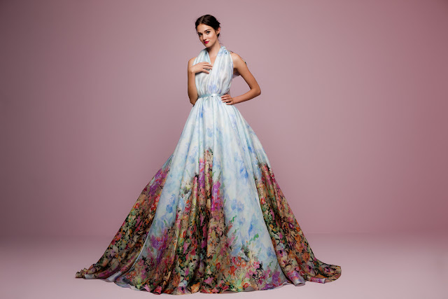 K'Mich Weddings - wedding planning - altar bow tie watercolor ball gown - Daalarna Collection