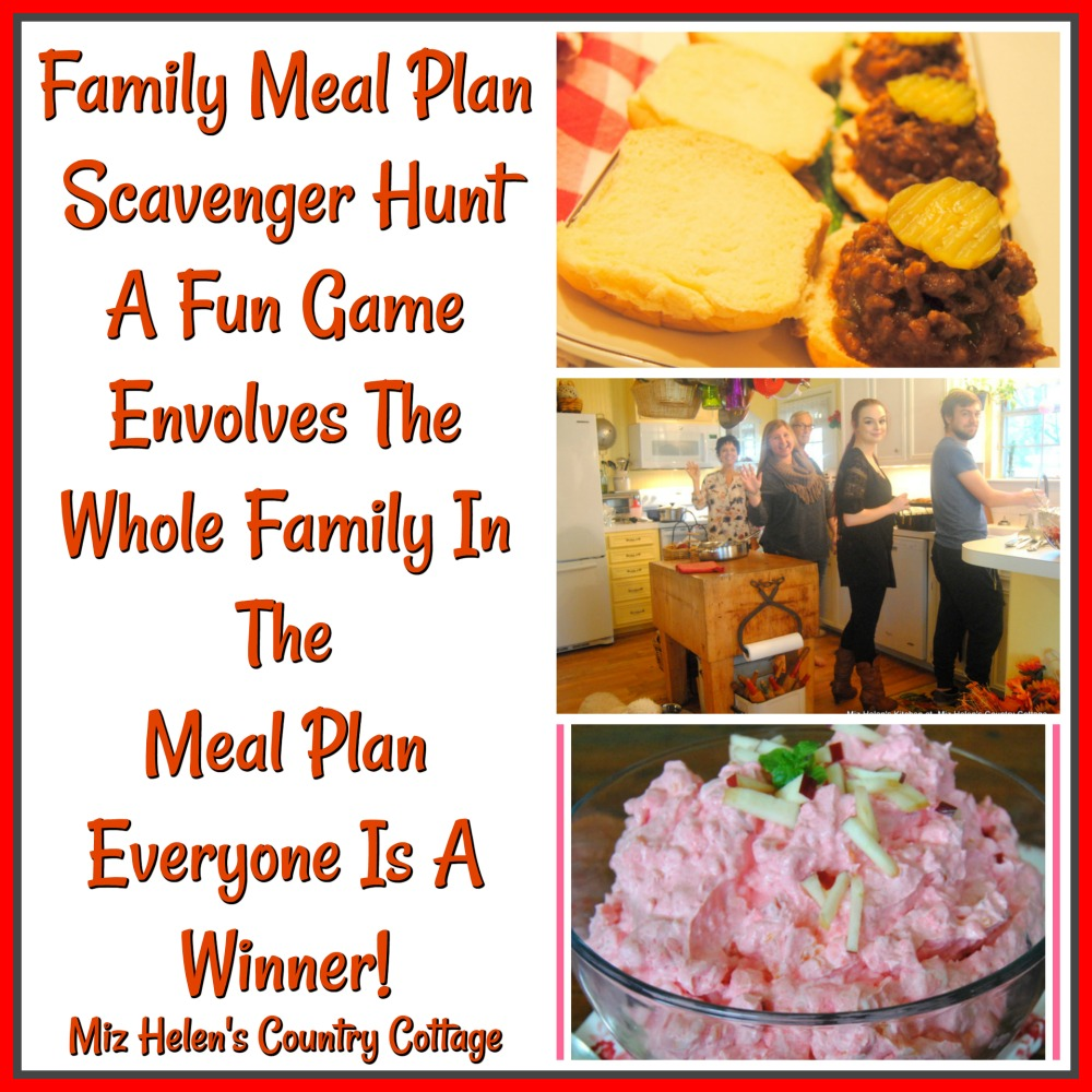 Family Meal Plan Scavenger Hunt