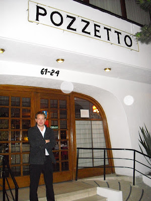'Wrong Way' outside the main door of Bogotá's infamous Pozzetto restaurant