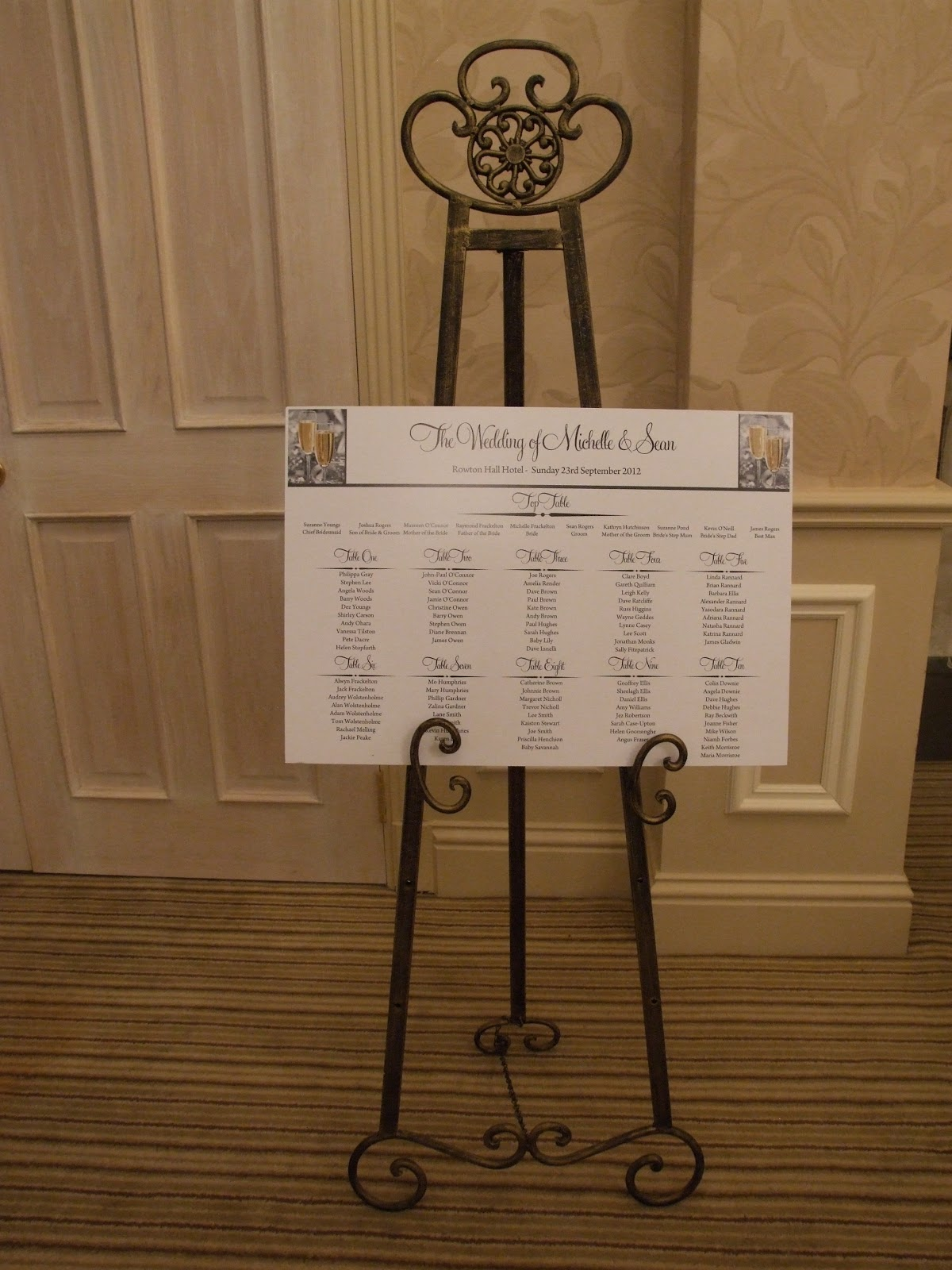 Crystal Flowers Bay Trees Amp Table Planner Stand To Hire