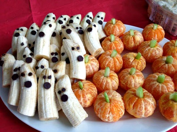 Banana Ghosts and Pumpkin Oranges from Princess Pinky Girl.
