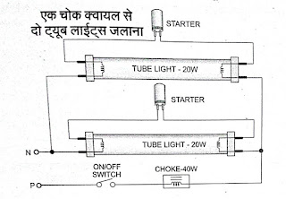 learn electrician tube light wiring connections Interior Light Wiring Diagram connection diagram of 2 tube lights with single choke