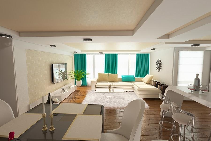 Design interior living apartament modern Constanta - Amenajari Interioare / Arhitect Constanta