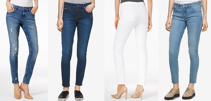 These Calvin Klein Curvy-Fis Skinny Jeans come in 6 color options and are on sale at Macy's for only $40 (reg $70)
