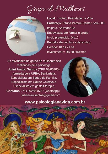 Grupo Terapêutico para Mulheres, Sagrado Feminino, Feminino Selvagem, Feminino Sagrado, Resgate do feminino