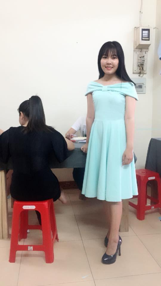 Sản phầm đầm kiểu của học viên lớp cắt may thời trang
