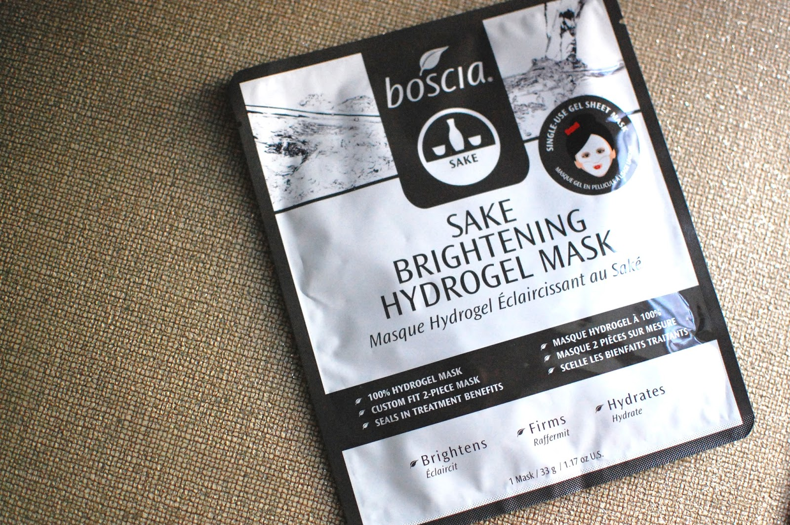 The Redolent Mermaid Skin Care Boscia Sake Brightening Hydrogel Mask