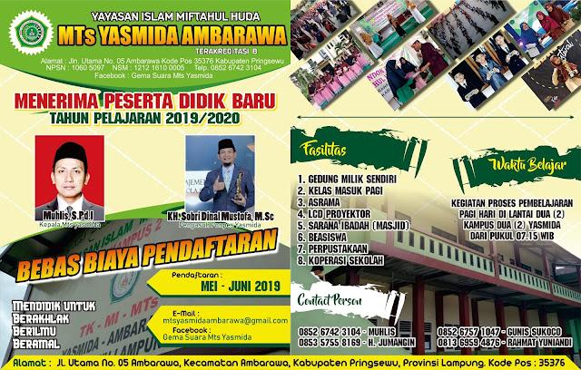 Desain Brousr Madrasah MTs Yasmida Ambarawa 2019