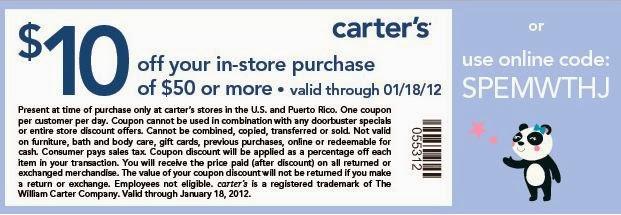 Carters Coupon Code Printable