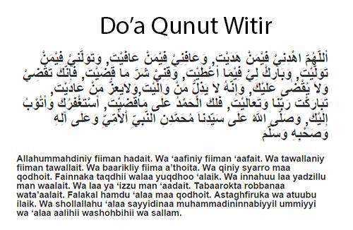 Doa Qunut Witir Di Bulan Ramadhan Lengkap Sesuai Sunnah