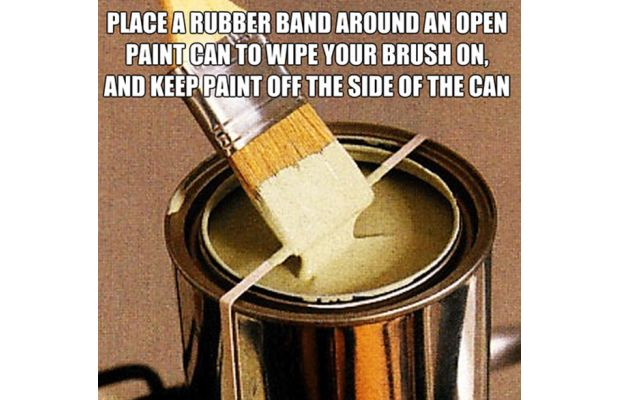 Wrap a Rubberband Around the Paint Can While Painting