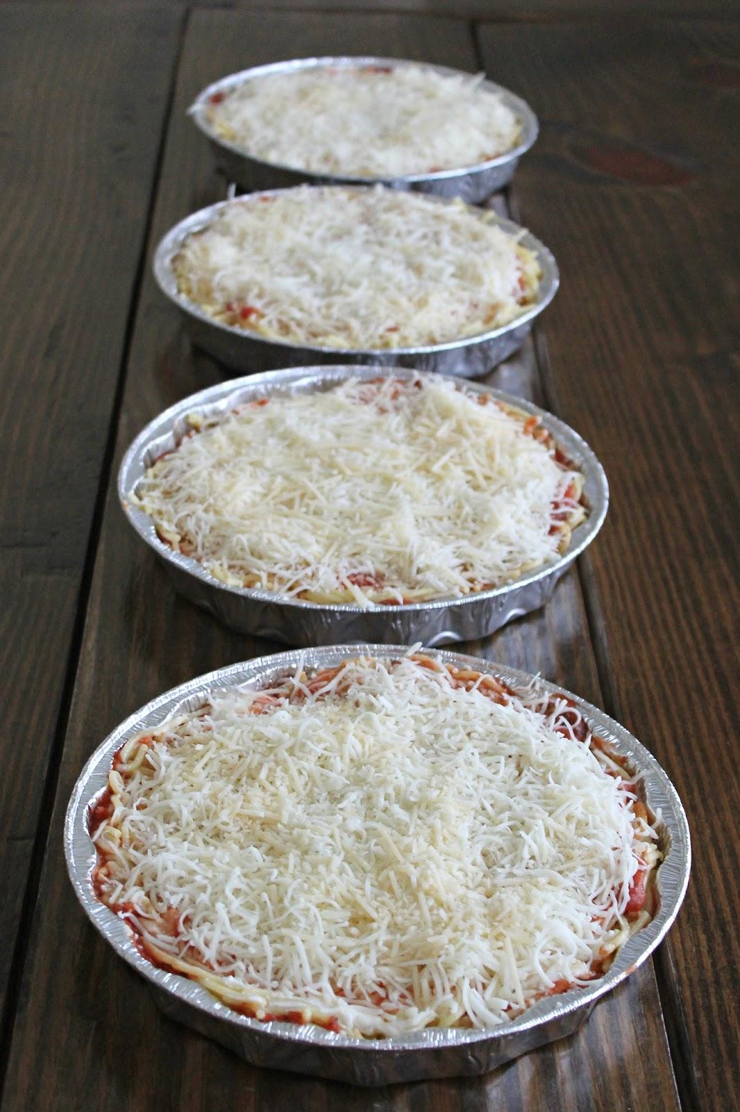baked spaghetti freezer meals