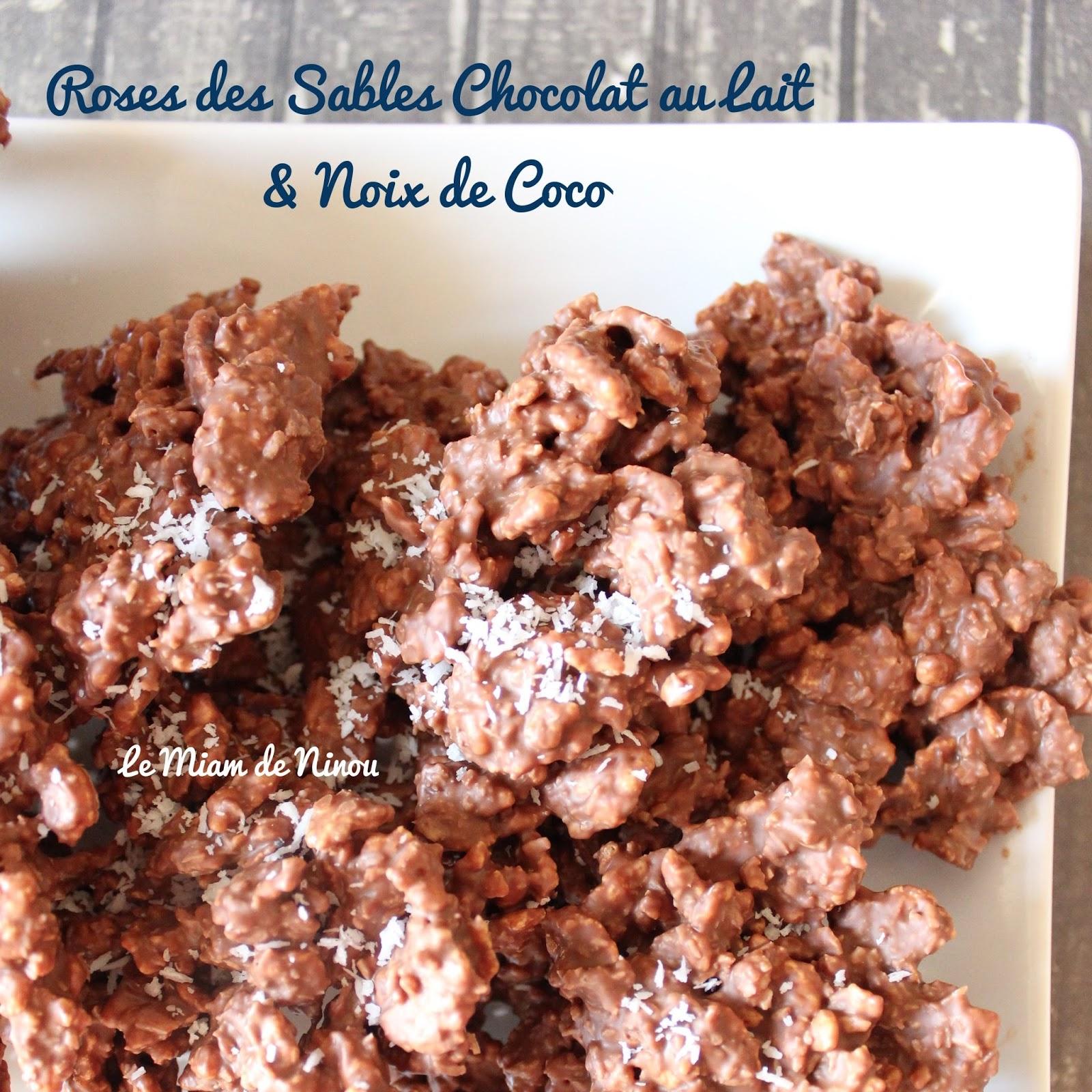 Comme Une Envie De Roses Des Sables Chocolat Au Lait Noix De Coco