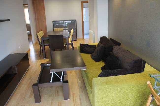 piso en alquiler 2 hab calle picasso castellon salon