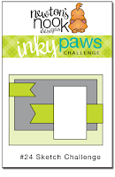 Inky Paws #24 Sketch Challenge | Newton's Nook Designs