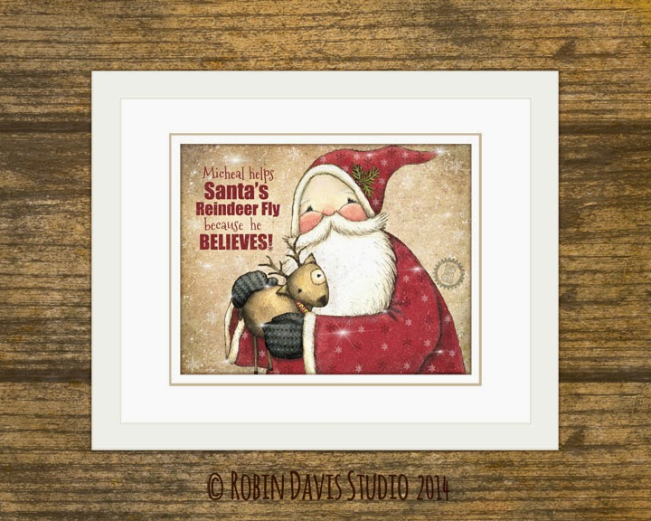 Help make the Reindeer Fly - Add your child's name to Santa's Print | Robin Davis Studio