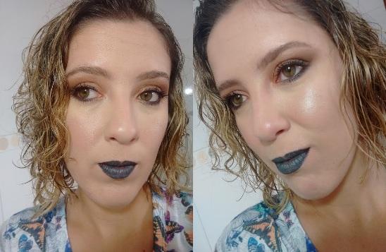 Batom preto - Faça o seu - maquiagem com batom preto