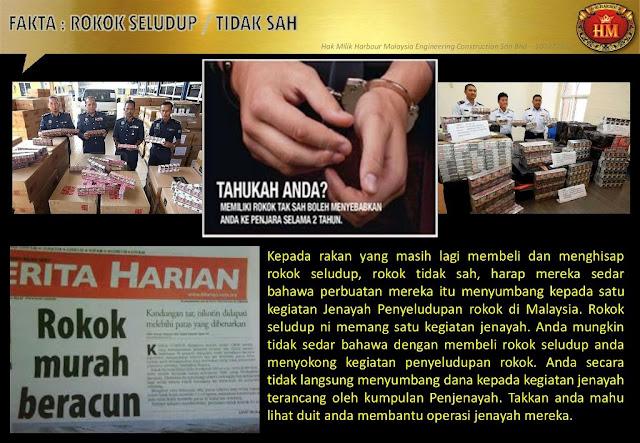 Jenayah penyeludupan rokok di malaysia