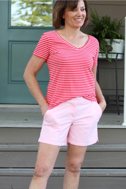 McCall's 6964 stripe knit from Sewing Studio