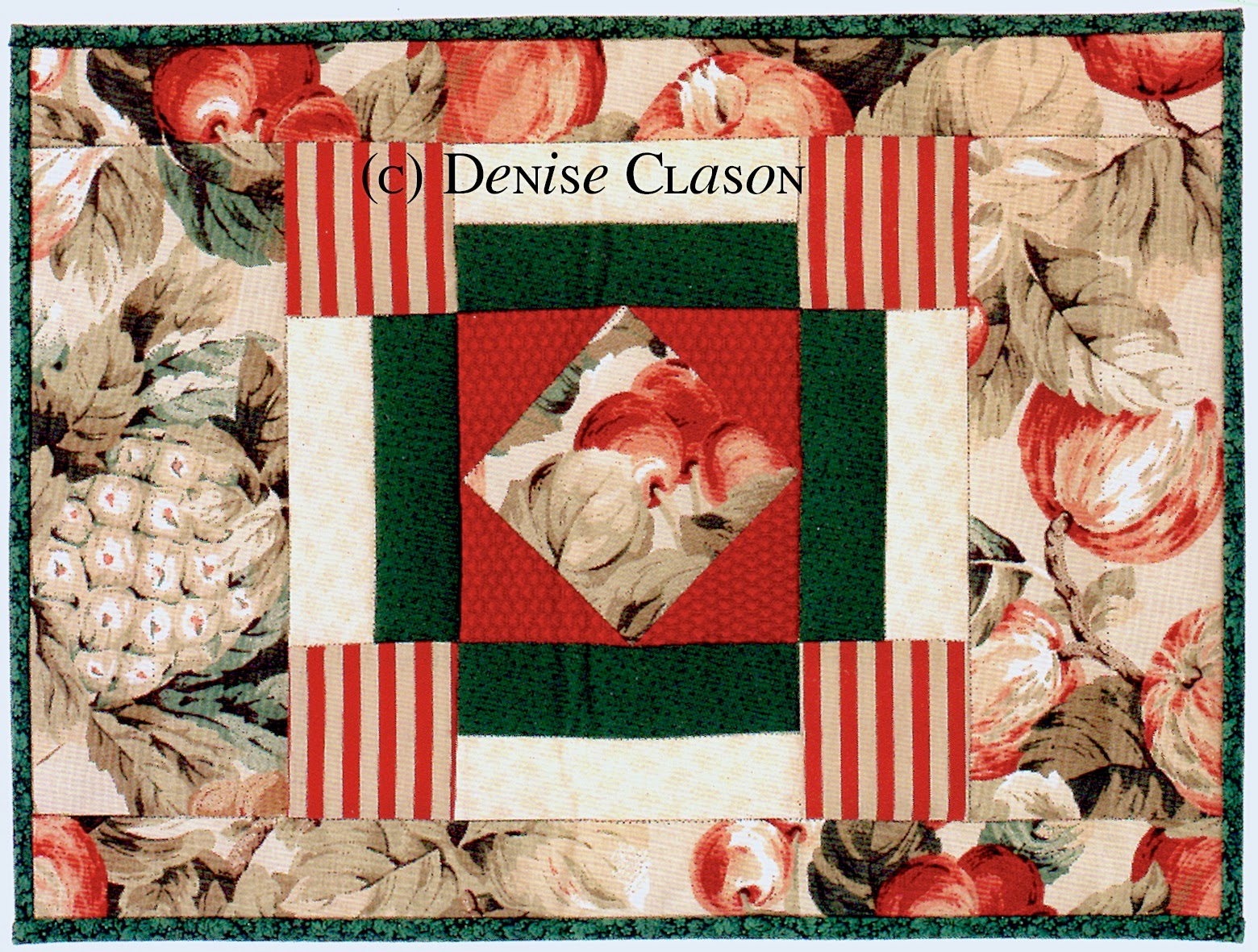 square in a square placemat by denise clason