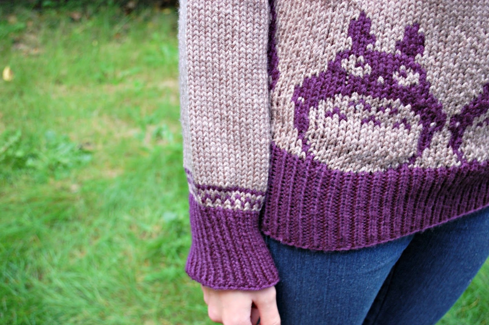 The Geeky Knitter Fo Totoro Brick Jumper