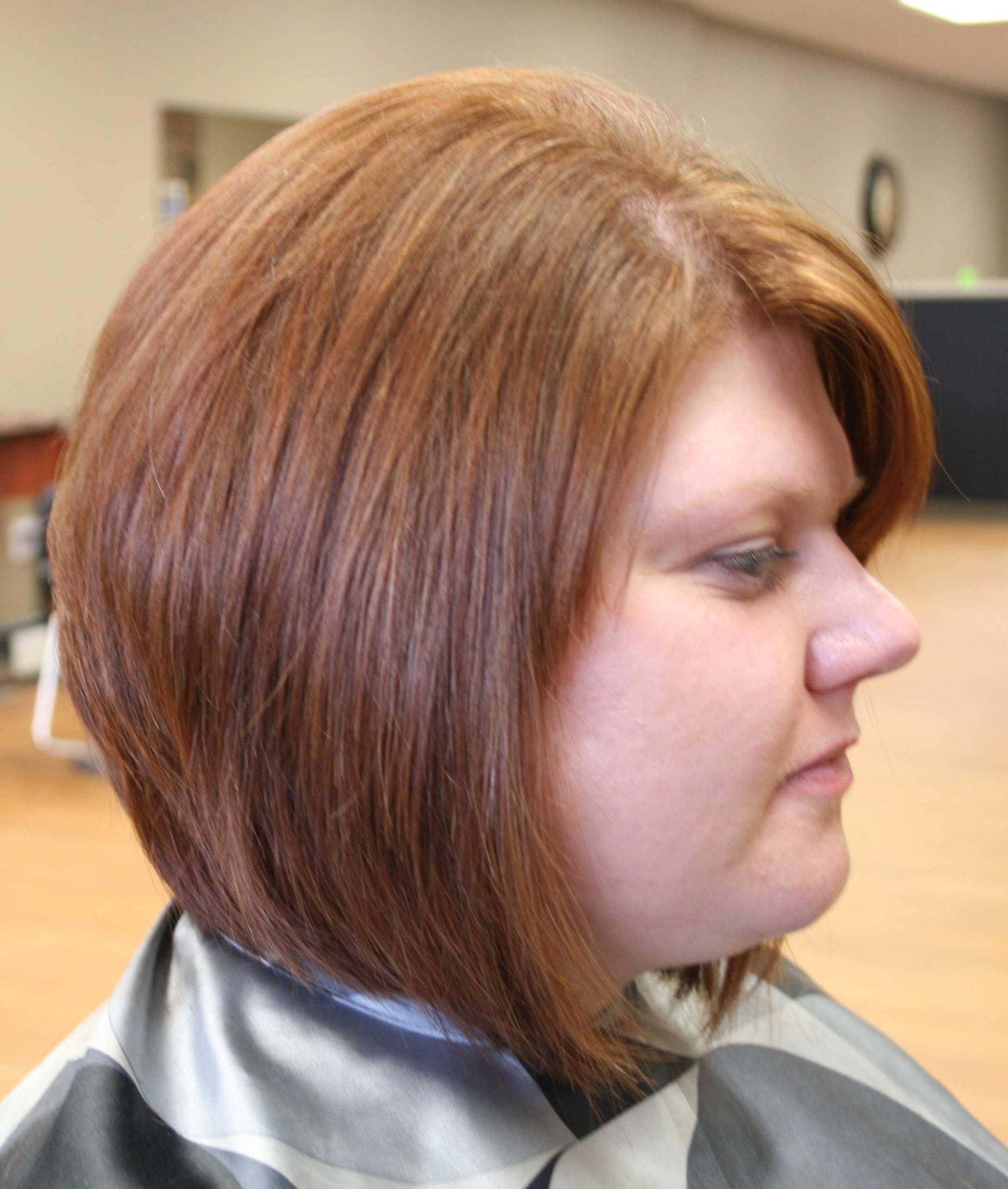 aline hairstyles fine hair