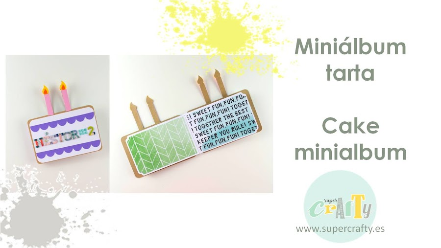 miniálbum tarta DIY cake minialbum