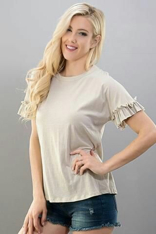 Ruffle sleeve top with mini skirts