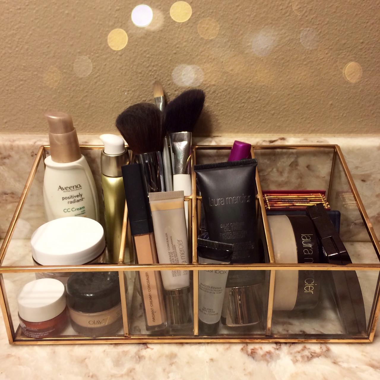 makeup organizer target. {gold makeup organizer via target} target