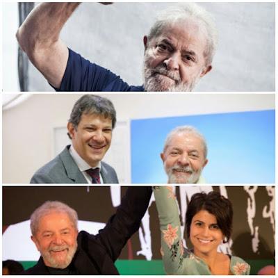 Lula com Haddad e com Manuela