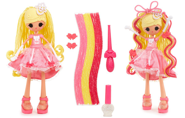 Lalaloopsy Girls Crazy Hair Doll- Cinder Slippers