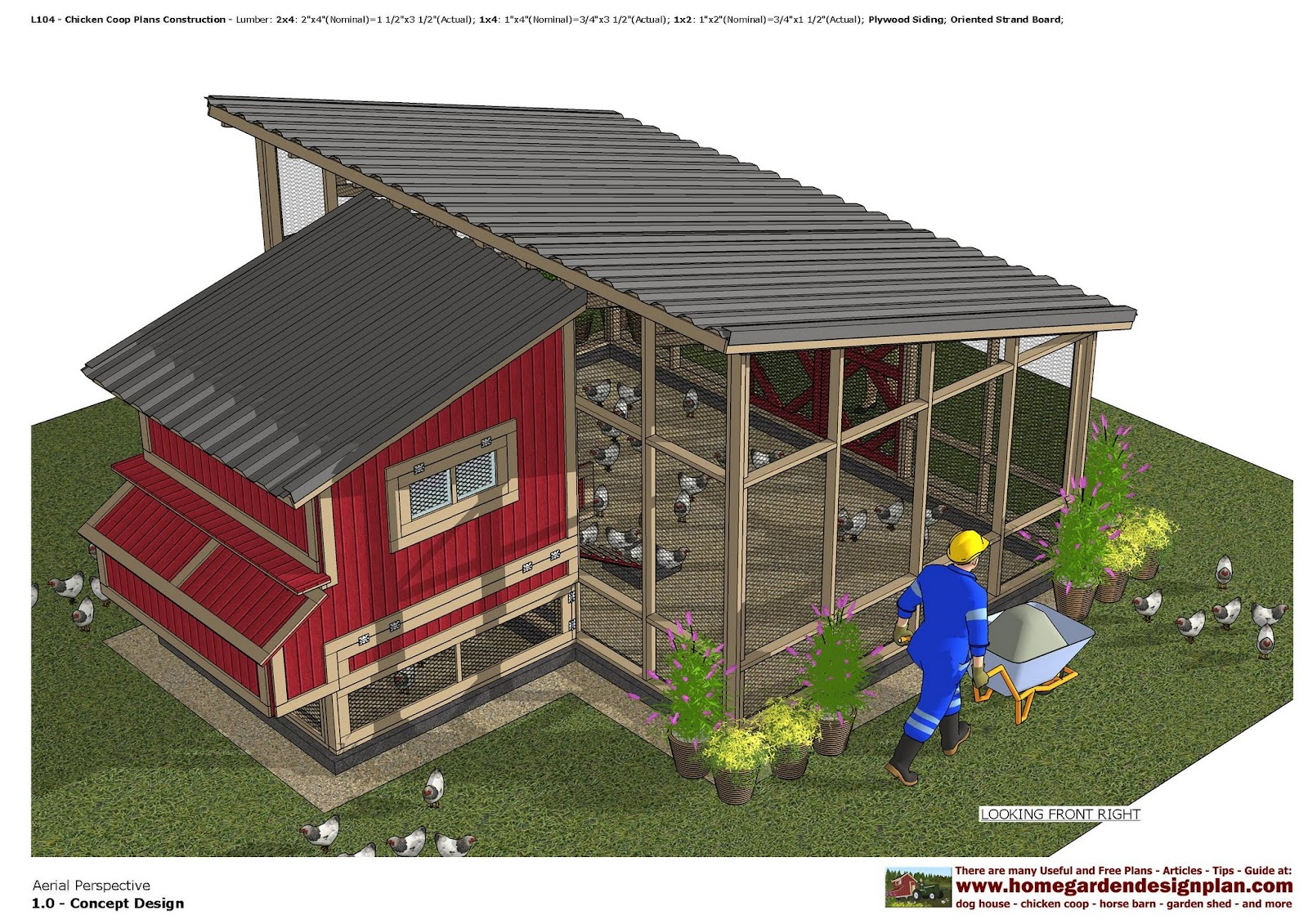 Home garden plans chicken coops for Chicken coop for 8 10 chickens