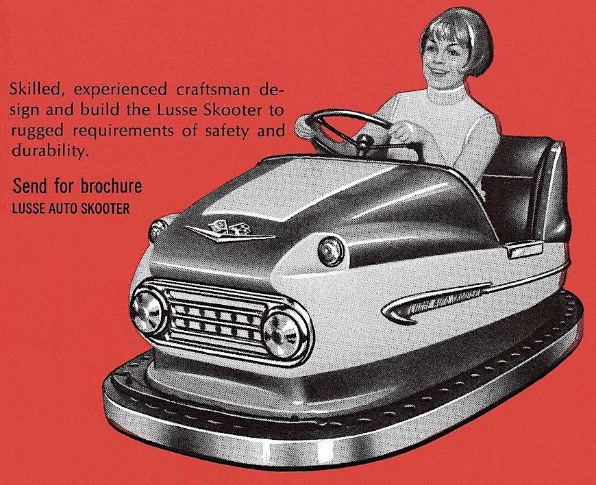 Lusse Auto Scooter, a 1972 bumper car illustration