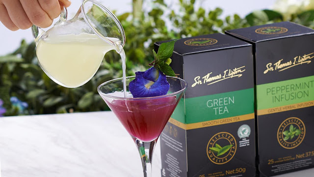 Keharuman Jasmine Envelope Green Tea Dengan Bunga Telang Menggoda