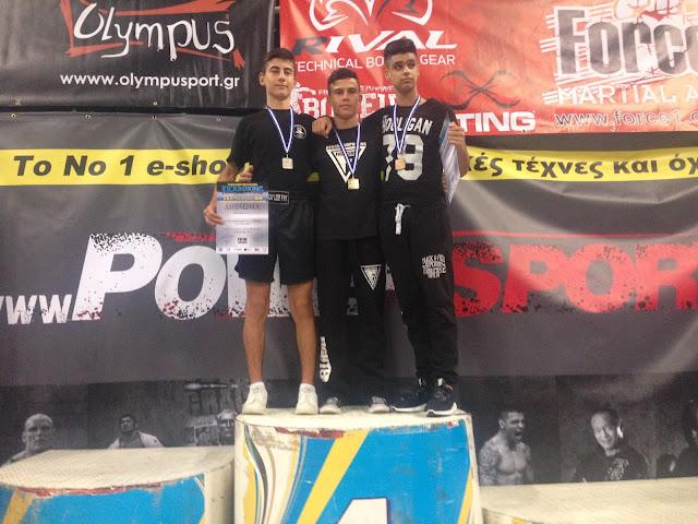 Με 1 ασημένιο και 1 χάλκινο μετάλλιο η σχολή  CHOY LEE FUT Ναυπλίου στο Πανελλήνιο Πρωτάθλημα KICK BOXING
