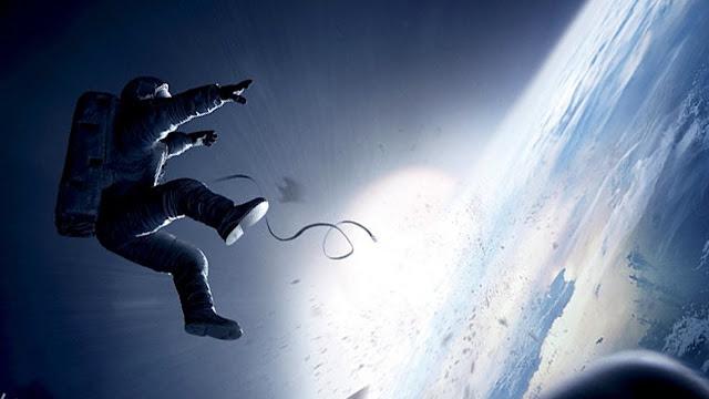 L'un des célèbres plans de Gravity, de Alfonso Cuaron (2013)