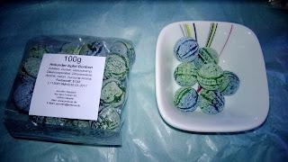 Apfel Holunder Bonbons in Grün-Blau