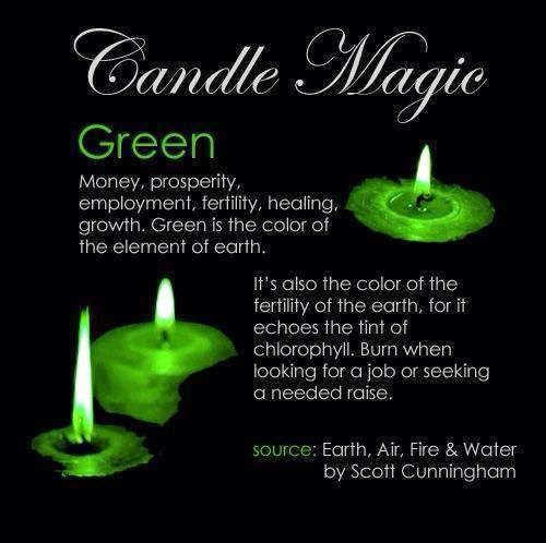 Crone Cronicles Candle Magick Colors