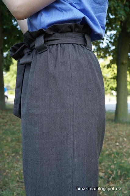 Paperbag waist - hier mit Gürtelschlaufen