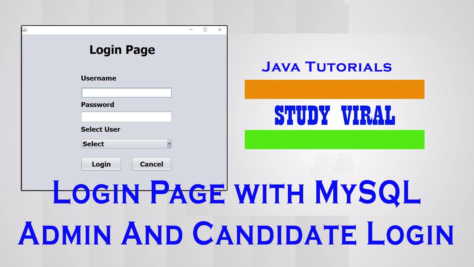 Java swing multiplemulti user login in netbeans and mysql database java swing multiplemulti user login in netbeans and mysql database studyviral baditri Choice Image