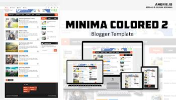 Minima Colored 2 Blogger Template Ads Ready Gratis