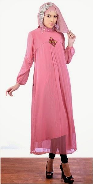 25 Model Gaun Pesta Muslim Modern Sifon Dan Taff Terbaru