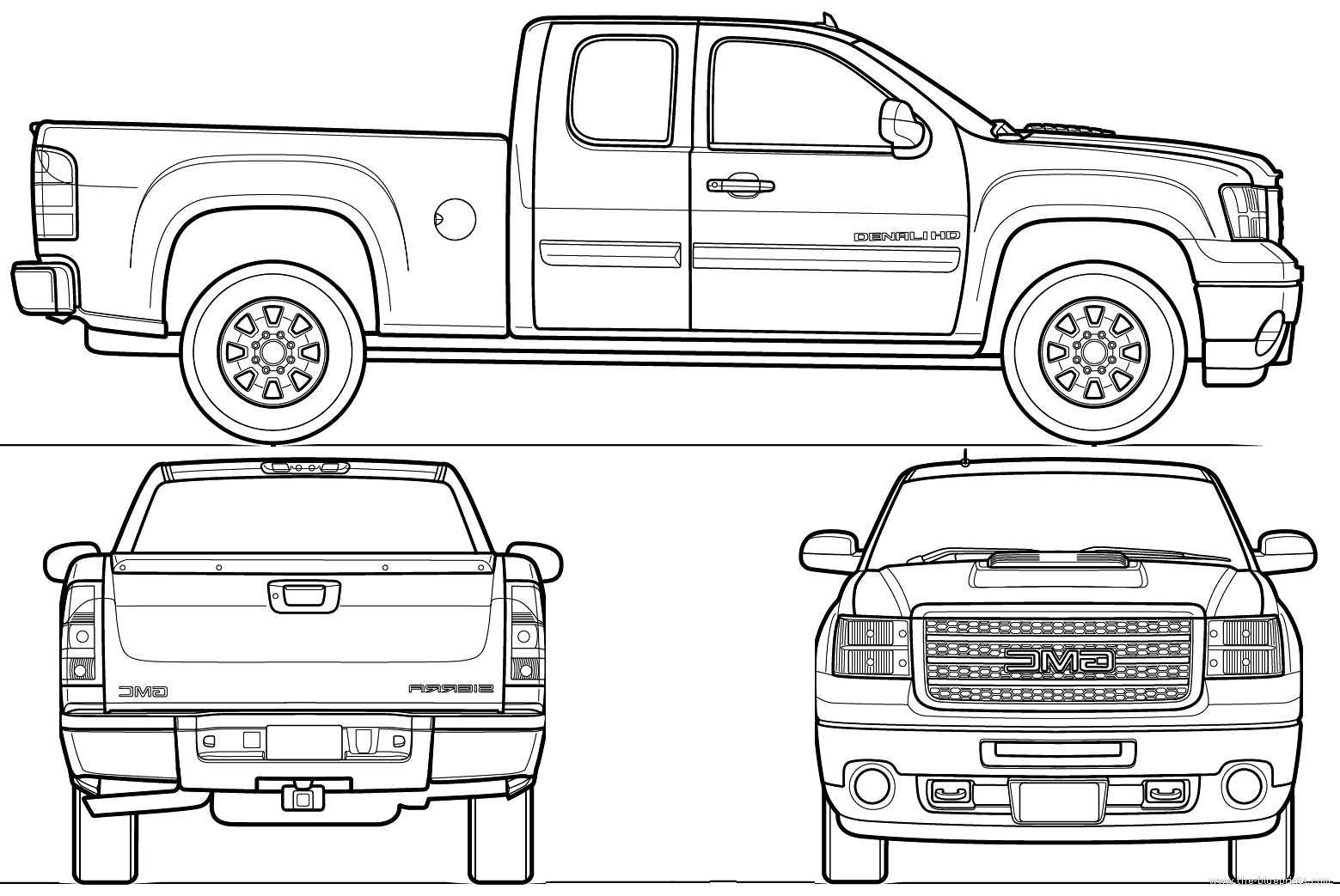 Chevrolet silverado extended cab 8 Feet box together with Ford Bronco Vector File besides Most Loved Car Blueprints For 3d Modeling furthermore P 0900c15280061ea0 further . on gmc sierra blueprint