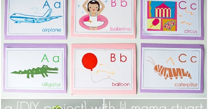 a {day} with lil mama stuart: DIY Alphabet Flash Cards
