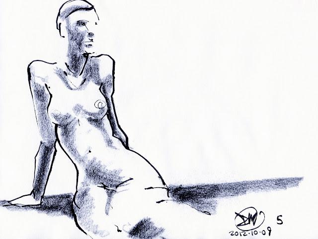 5 Minute sketch of nude by David Meldrum