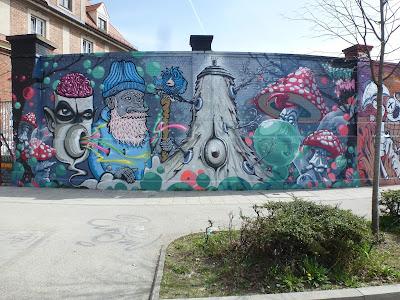 Graffiti an der Tumblingerstraße, Forest Gum
