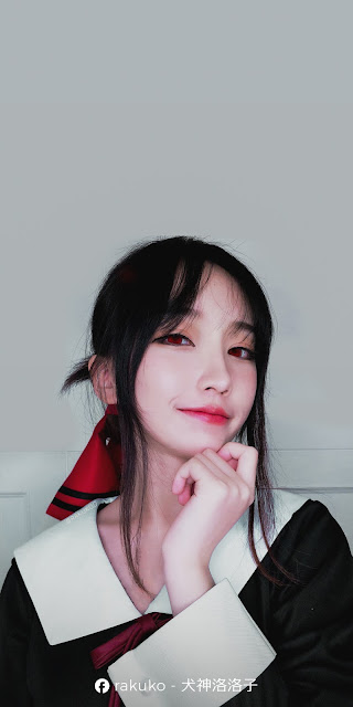 Rakuko - Shinomiya Kaguya Cosplay Wallpaper